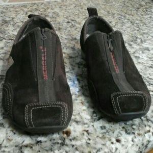 MERRELL (  Barrado) suede zip-up sneakers